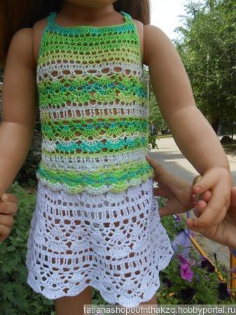 Летний костюм для девочки ручной работы на заказ