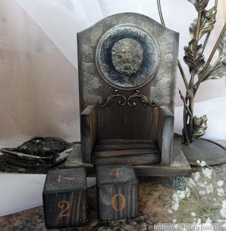 """Вечный календарь """"Царь зверей"""" ручной работы на заказ"""
