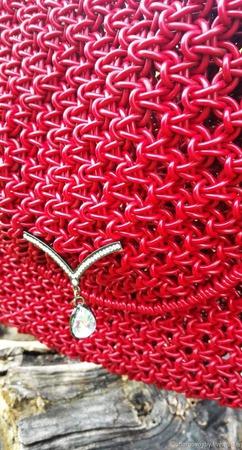 Сумка макраме красная ручной работы на заказ