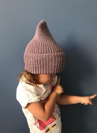Шапка вязаная детская меринос/як Y-Z KNITS ручной работы на заказ