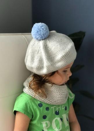 Комплект вязаный детский берет/снуд  Y-Z KNITS ручной работы на заказ