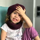 Комплект вязаный детский берет/снуд/варежки Y-Z KNITS