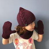 Комплект вязаный детский шапка/снуд/варежки Y-Z KNITS