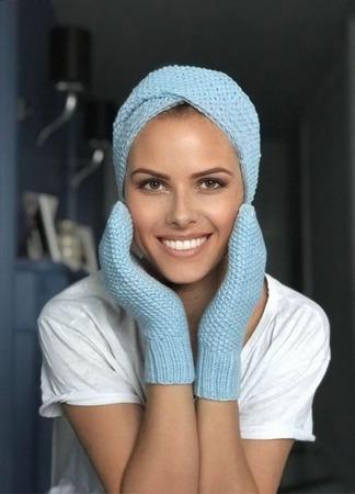 Повязка женская вязаная на голову Y-Z KNITS ручной работы на заказ