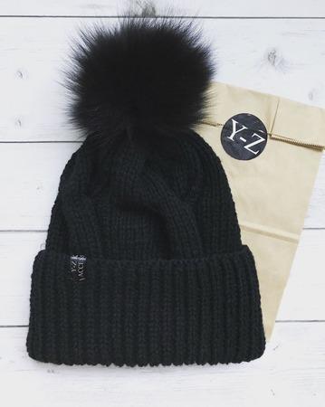 Комплект вязаный шапка и снуд из пуха норки/козьего пуха/кашемира Y-Z ручной работы на заказ