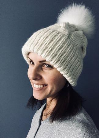 Комплект вязаный женский шапка/снуд  кашемир/пух норки/козий пух Y-Z ручной работы на заказ