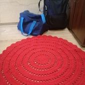 Красный ковер из хлопкового шнура
