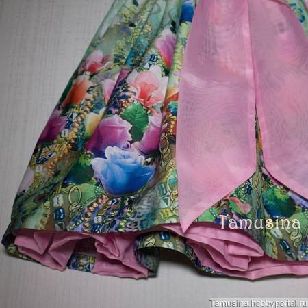 """Платье для девочки """"Розы в розовом"""" ручной работы на заказ"""