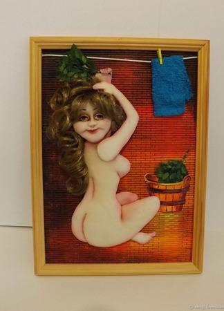 Девушка в бане ручной работы на заказ
