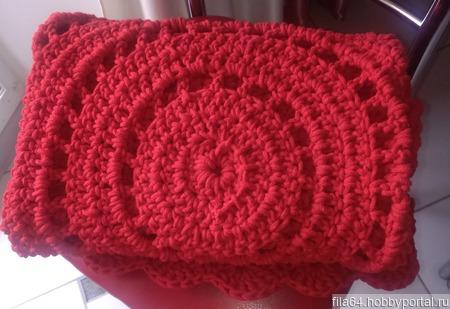Красный ковер из хлопкового шнура ручной работы на заказ