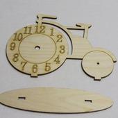 """Заготовка из фанеры """"Часы велосипед"""""""
