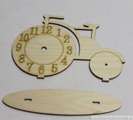"""Заготовка из фанеры """"Часы велосипед"""" ручной работы на заказ"""