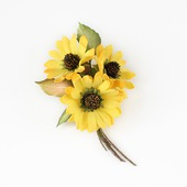 """Яркая желтая брошь с цветами """"Солнечные ромашки"""""""