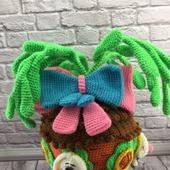Вязаная игрушка Зайцы в морковном домике