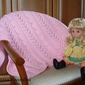"""Плед детский """"Розовый ажур""""."""