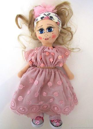 Кукла из ткани ручной работы на заказ