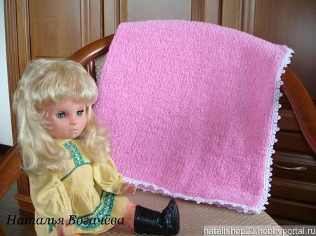 """Плед детский """"Розовый пушистик"""" ручной работы на заказ"""