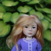Кукла Рыженькая девочка из полимерной глины