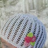 """Летняя шапочка """"Цветочек"""""""