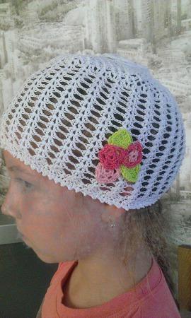 """Летняя шапочка """"Цветочек"""" ручной работы на заказ"""
