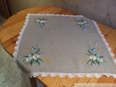 Мини-скатерть с салфетками ручной работы на заказ