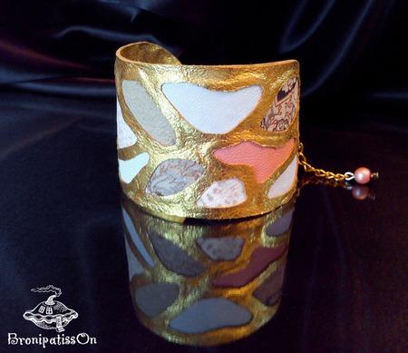 Комплект мини-клатч и браслет White Giraffe ручной работы на заказ