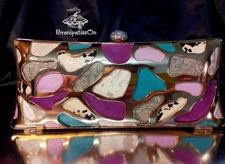 Клатч вечерний мозаика из кожи ручной работы на заказ