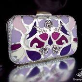 Клатч из натуральной кожи Art Deco lilac