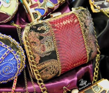 """Клатч кожаный с натуральной кожей змеи """"Red elegance"""" ручной работы на заказ"""