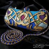 Клатч в стиле Модерн бирюза/синий