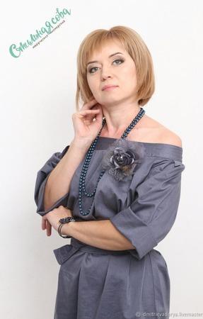 """Платье """"Открытые плечи"""" ручной работы на заказ"""