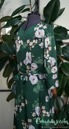 """Платье """" Гардении в саду"""" ручной работы на заказ"""