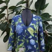 Платье замшевое с цветочным притинтом