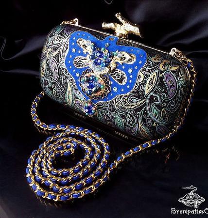 """Клатч """"Royal indigo"""" ручной работы на заказ"""