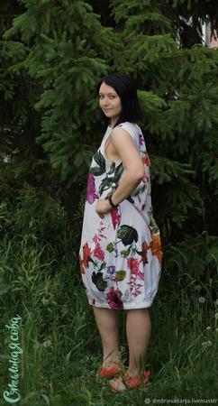 """Платье """"Сказочная петуния"""" ручной работы на заказ"""