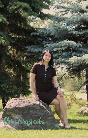 Платье-рубашка с воротником поло ручной работы на заказ