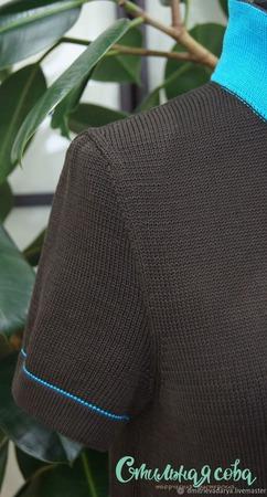 МК платье-рубашка с воротником поло ручной работы на заказ