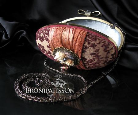 Клатч вечерний гобеленовый с брошью в винтажном стиле Vintage ручной работы на заказ
