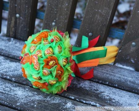 Букет из конфет чупа-чупс ручной работы на заказ