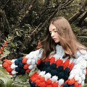 Вязаный свитер оверсайз женский в Москве