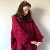 Стильный вязаный мохеровый свитер в Екатеринбурге