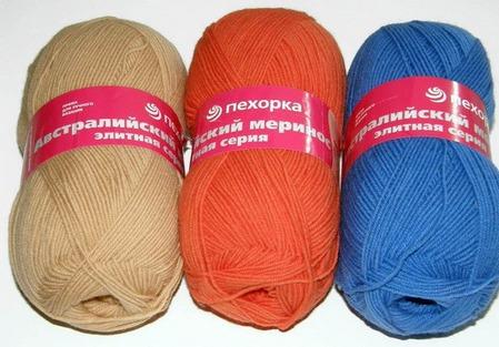 Пряжа для вязания Пехорка «Австралийский меринос» ручной работы на заказ