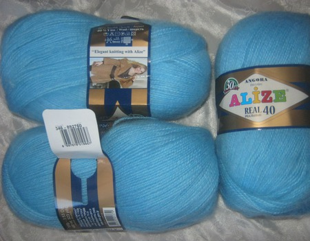 Пряжа для вязания Ализе Ангора ручной работы на заказ