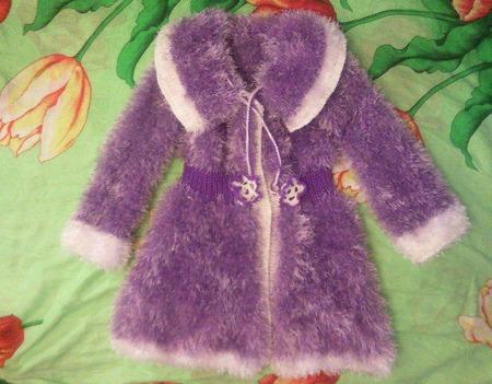 """Пальто для девочки """"Весенняя фиалка"""" ручной работы на заказ"""