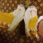 Носки-полусапожки домашние вязаные спицами