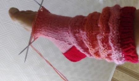 Носки-полусапожки домашние вязаные спицами ручной работы на заказ