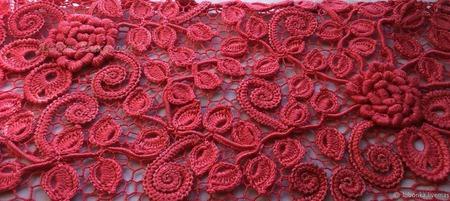 Платье Коралловый ажур ручной работы на заказ