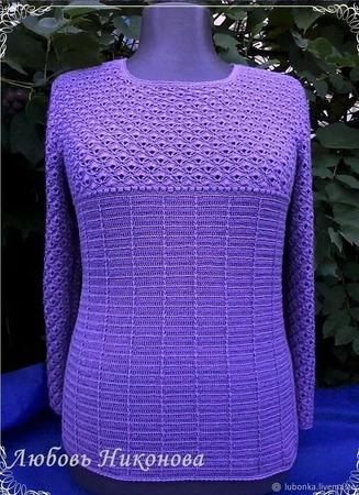 "Пуловер ""Кристалл"" ручной работы на заказ"