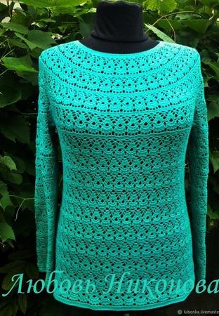 """Пуловер """"Лилия"""" ручной работы на заказ"""