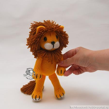 Вязаная крючком мягкая игрушка Лёвушка ручной работы на заказ